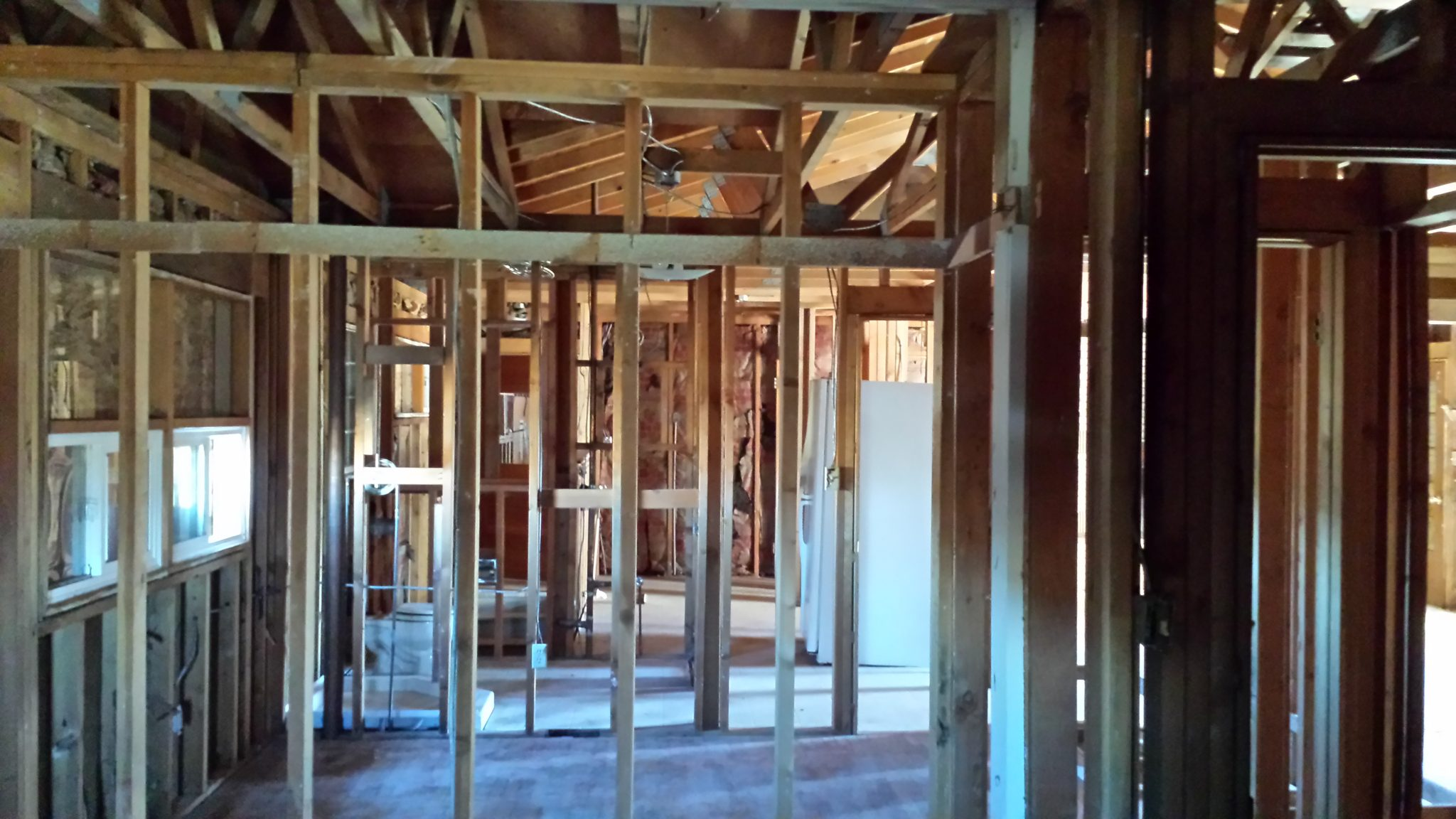 Interior Demolition down to the studs of a house