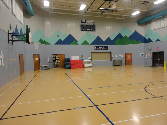Gym floor containing mercury