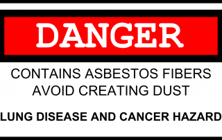 Asbestos Danger Sign