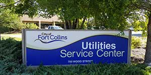 Fort Collins Utilities Service Center Sign