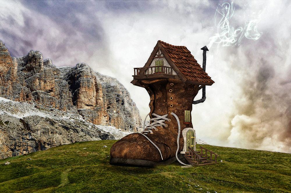 House that looks like a shoe
