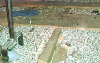 Vermiculite in attic space