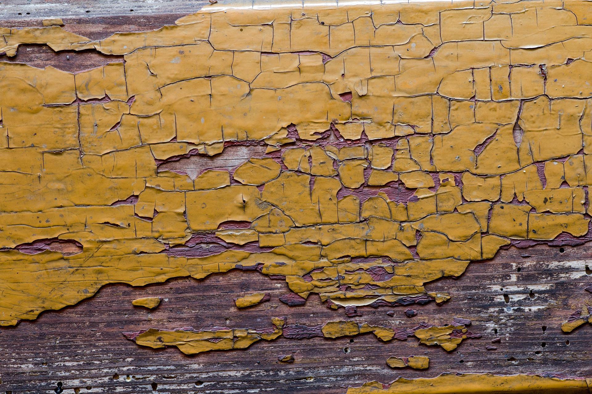 Peeling Lead Paint on wood surface
