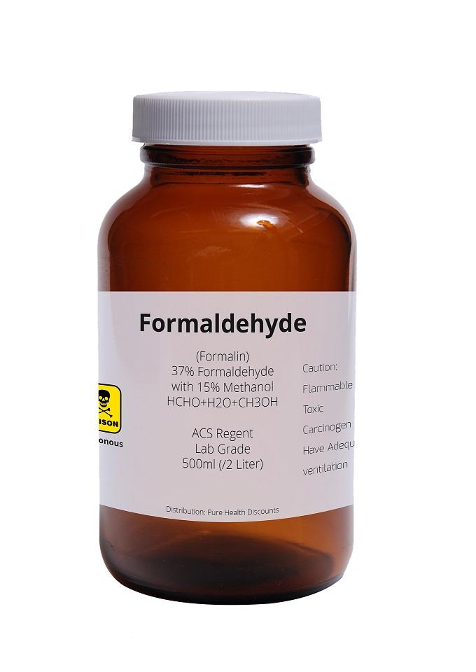 Bottle of formaldehyde
