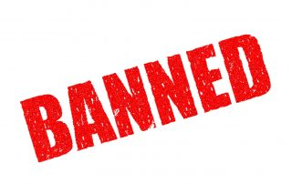 """Banned"" sign"