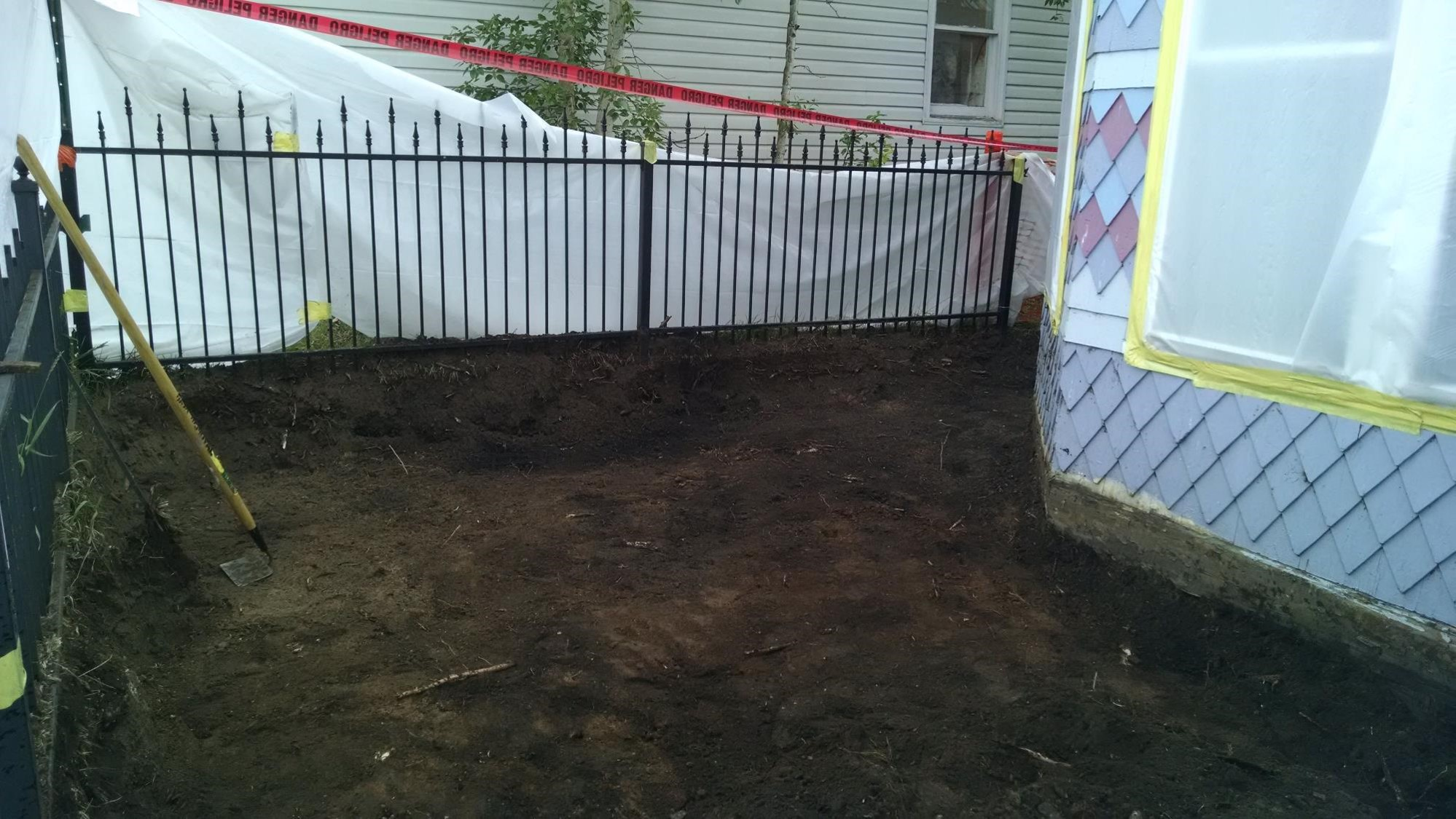 Removing contaminated soil